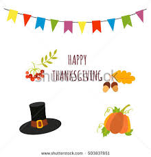 thanksgiving vector photo booth props decoration stock vector
