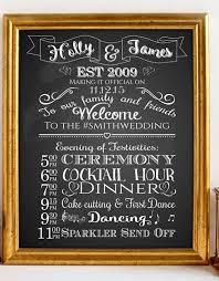 wedding program sign printable custom wedding program sign order of events day
