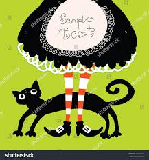 halloween cats background halloween retro cartoon witch legs boots stock vector 324574394