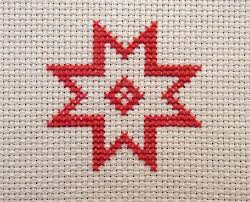 how to a and simple cross stitch card