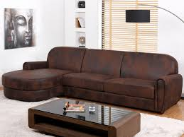 microfibre canapé canapé d angle microfibre aspect cuir vieilli victory ii