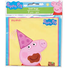 peppa pig treat bags 8 count party supplies walmart com