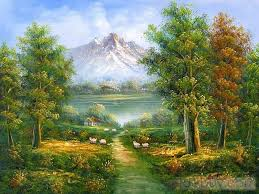Mountain Landscape Paintings by 148 Best Art Mountains Or Lakes Images On Pinterest Landscapes