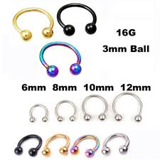 nose rings ball images 2 piece free shipping stainless steel nostril nose ring circular jpg