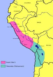 Lake Titicaca Map Wari Peru