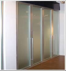 Tempered Glass Closet Doors Interesting Ideas Frosted Glass Closet Doors Door Roselawnlutheran