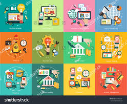 Setting Up Business Email by Business Concept Set Icons Email Marketing Stock Vector 657403231