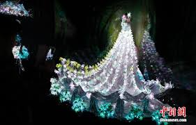 illuminated bridal gowns light up wedding expo in shanghai