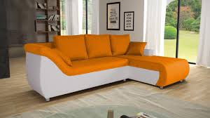canapé convertible orange corabia canapé d angle convertible droit design orange et blanc