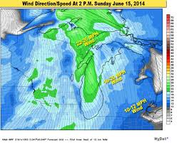 Wind Direction Map Father U0027s Day Weather Forecast For Michigan Mlive Com