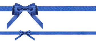 blue bows blue satin bows and ribbons isolated set 2 stock image image