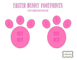 printable bunny ears feet easter face template free printable