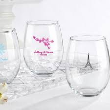wine glass party favor personalized stemless wine glasses wedding bridal shower