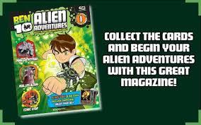 ben 10 alien adventures magazine collect cards master