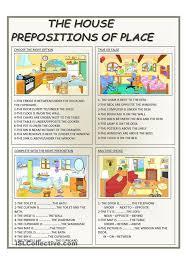 the house prepositions of place esl pinterest prepositions