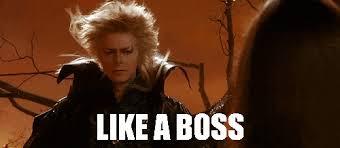 David Bowie Labyrinth Meme - like a boss david bowie blowing hair hair flip amazing