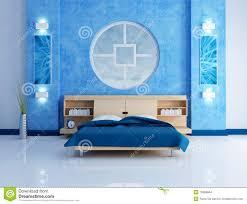 Blaues Schlafzimmer Blaues Modernes Schlafzimmer Stock Abbildung Bild 13859684