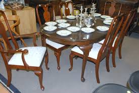 ethan allen antique pine dining room set