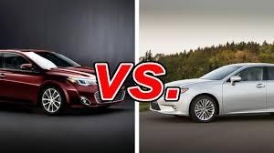 is lexus toyota toyota avalon vs lexus es 350 carsdirect
