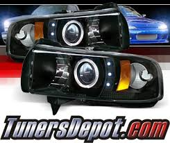 02 dodge ram headlights sonar ccfl halo projector headlights black 94 02 dodge ram 2500