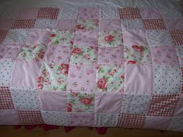 handmade patchwork shabby chic quilt cath kidston fabric