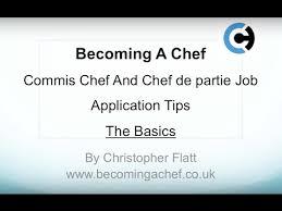 commis de cuisine d馭inition commis chef and chef de partie application tips