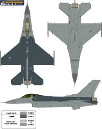 general dynamics f 16 fighting falcon usaf two color camouflage