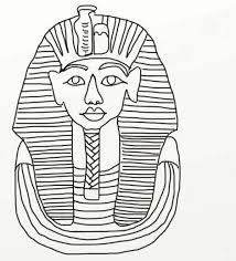 king tutankhamun death mask ancient egypt coloring 19012