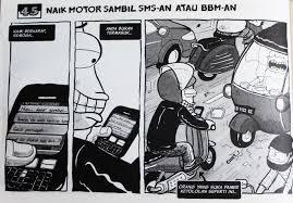 Indonesia 45] Naik Motor Sambil SMS an Atau BBM an