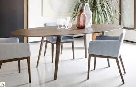 tavolo ovale legno tavolo rotondo design in legno argos arredo design