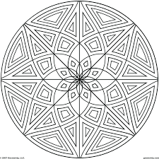 islamic geometric patterns coloring pages simple design aztec
