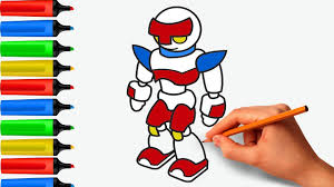 coloring pages robot android painting drawing cartoon art