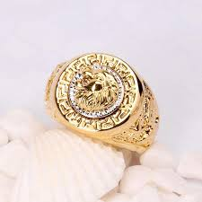 fashion rings men images New fashion vintage male lion head punk and eagle ring men filled jpg