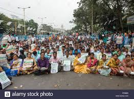 Seeking In Kolkata Kolkata India 11th Feb 2016 Activists Of Mgnrega Supervisor
