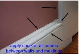 How To Use Bathroom Sealant How To Caulk Trim Molding Before Painting Do It Yourself Help Com