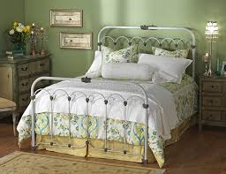 white bed frames queen metal bed frame off white antique iron full