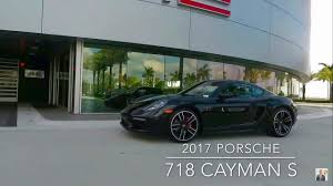 porsche cayman black 2017 jet black porsche 718 cayman s 350 hp porsche west broward