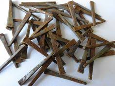 12 hand forged antique iron nails twisted by perfectlygoodstuff