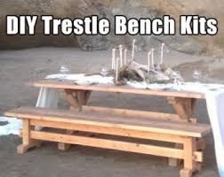 How To Build A Trestle Table Farmhouse Trestle Table Diy Kit Made To Order