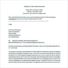 28 letter of recommendation template word recommendation letter
