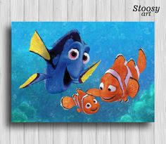 dory finding nemo dory poster disney decor by colorfulposter my