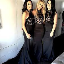 black bridesmaid dresses black bridesmaid dresses halter bridesmaid dresses mermaid