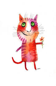 111 best cat painting u0026 illustration images on pinterest cat