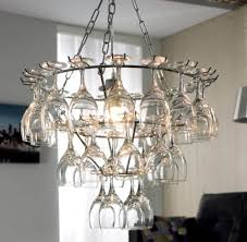 Diy Chandelier Ideas by Lighting U0026 Lamp Wood And Gold Pottery Barn Wine Glasses