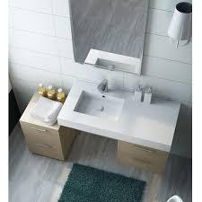 mensola lavabo da appoggio piano da arredo bagno moderno con lavabo decentrato vi