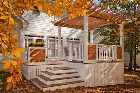 How To Build A Wood Awning Over A Deck Decks Com Building A Pergola On A Deck