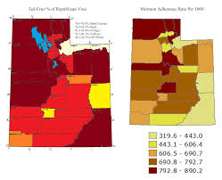 Counties In Utah Map by Why Mormons Love Ted Cruz Paul Matzko