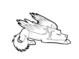 winged wolf coloring pages getcoloringpages com