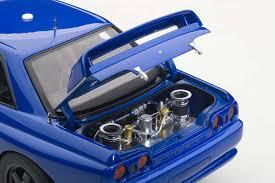nissan skyline gtr r32 autoart highly detailed die cast model blue nissan skyline gt r
