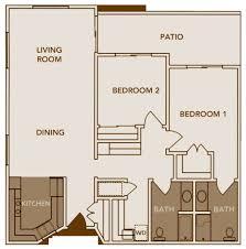 two bed two bath floor plans uncategorized two bed two bath floor plan unique with beautiful